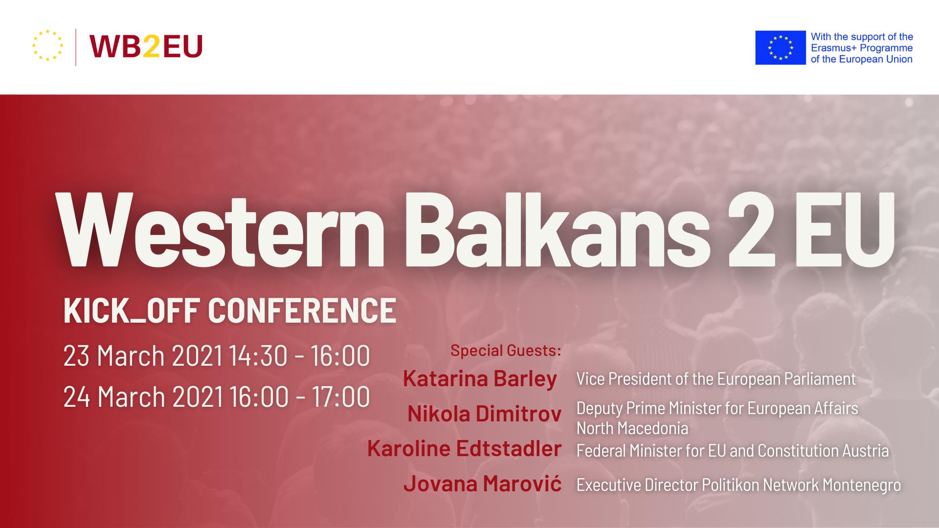 Kick_Off Conference Western Balkans 2 EU: A Reality Check for EU Enlargement