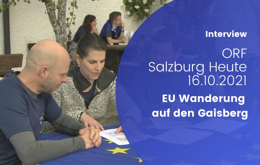 EU-Wanderung auf den Gaisberg (ORF Salzburg heute vom 16. 10. 2021)